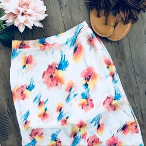 🌸 Lush Floral Maxi Skirt Size Small